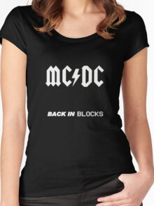 Minecraft - Back In Blocks Women's Fitted Scoop T-Shirt