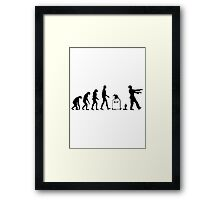 Evolution Zombie Framed Print