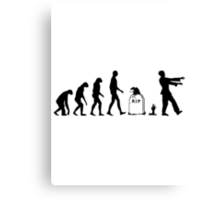 Evolution Zombie Canvas Print