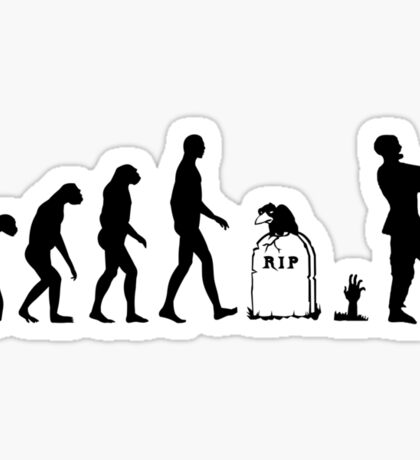 Evolution Zombie Sticker