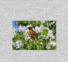 Flowering Apple Tree with Baltimore Oriole Unisex T-Shirt