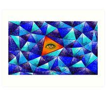 Tethrous V1 - watching triangle Art Print