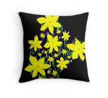 Bouquet of yellow flowers Throw Pillow