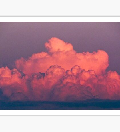 clouds in the sky at sunset colored rose Sticker