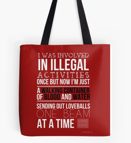 Stana Katic - Twitter Quote Tote Bag