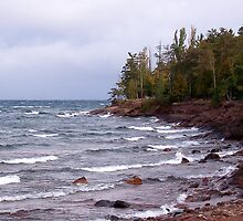 Waves of Lake Superior by Phil Perkins