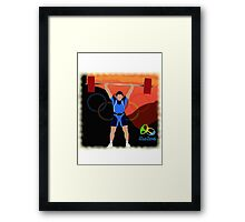 Olympic Weightlifter Rio 2016 Framed Print