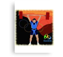 Olympic Weightlifter Rio 2016 Canvas Print