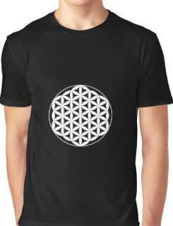 Flower Of Life - White Graphic T-Shirt