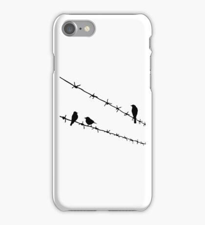 raven wire mesh iPhone Case/Skin