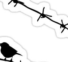 raven wire mesh Sticker