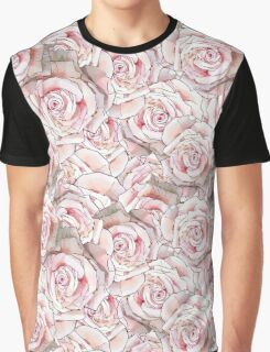 Pink Roses Print Graphic T-Shirt