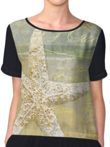 Golden Sea III Chiffon Top