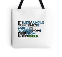 Classic music verses: Grandmasta Flash Message Tote Bag