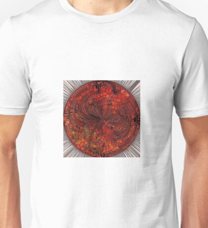 Orange Mosaic Circle Unisex T-Shirt