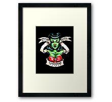 Zombie Voodoo Queen Framed Print