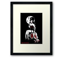 Zombie Minx Framed Print