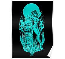 Tiki blue moon Poster