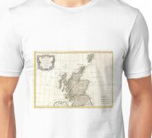 Vintage Map of Scotland (1772) Unisex T-Shirt