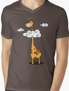 A giraffe Mens V-Neck T-Shirt