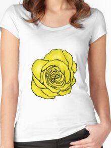 Open Yellow Rose Women's Fitted Scoop T-Shirt