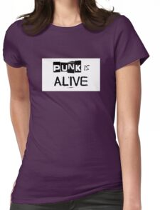 Punk Is Alive Womens Fitted T-Shirt