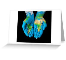 The World in Hands Greeting Card