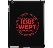 Jesus wept. iPad Case/Skin