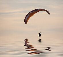 Powered paraglider by John Edwards
