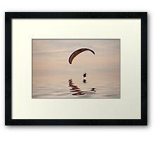 Powered paraglider Framed Print
