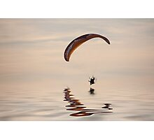 Powered paraglider Photographic Print