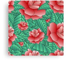 Beautiful Rose, floral pattern. Canvas Print