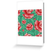 Beautiful Rose, floral pattern. Greeting Card