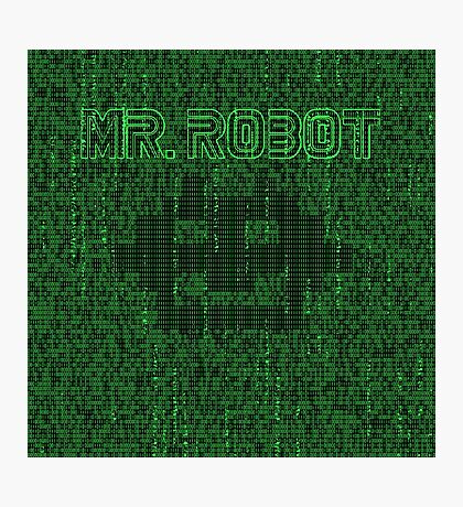 Mr Robot Matrix Code Photographic Print