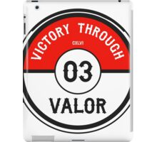 Victory through Valor (Valor Red) iPad Case/Skin