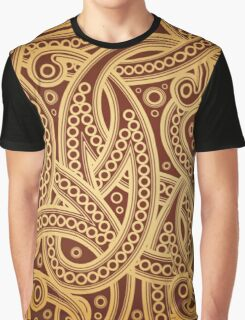 Gold and brown vector vintage pattern Graphic T-Shirt