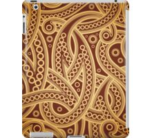 Gold and brown vector vintage pattern iPad Case/Skin