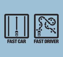 Fast Car - Fast Driver (2) Kids Clothes
