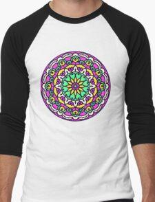 Mandala - Circle Ethnic Ornament Men's Baseball ¾ T-Shirt