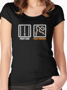 Fast Car - Fast Driver (3) Women's Fitted Scoop T-Shirt