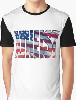 USA ATHEIST Graphic T-Shirt