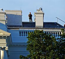 On the roof of the White House by Bine