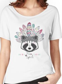 raccoon aztec style Women's Relaxed Fit T-Shirt