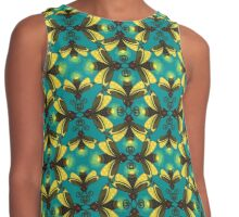 Firefly in blue green Damask Contrast Tank