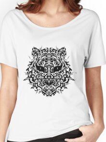 line art tiger head Women's Relaxed Fit T-Shirt