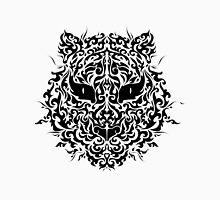 line art tiger head Womens Fitted T-Shirt
