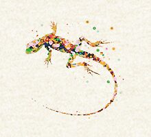 Rainbow Lizard  Zipped Hoodie