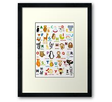 English ABC Framed Print