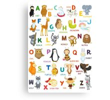 English ABC Canvas Print