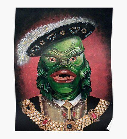 Renaissance Victorian Portrait - Creature from the Black Lagoon Poster